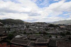 City in the sky:the Old Town of Lijiang. Stock Photo