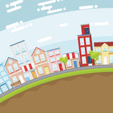 City in Slope land Royalty Free Stock Images