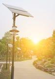 City small size solar generator Royalty Free Stock Image