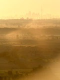 City Smog. Morning smog in the city Royalty Free Stock Photo