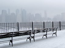 City in Snow royalty free stock image