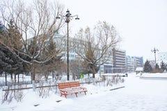 City of snow Stock Photo