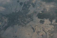 City in snow Stock Image