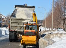 City Snow removal Royalty Free Stock Images