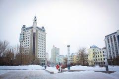City of snow royalty free stock photos