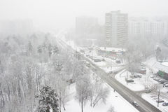 City,snowfall, one Stock Images