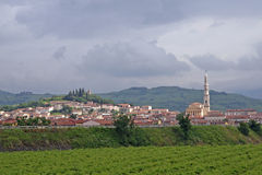 City of soave and the Bell Tower Royalty Free Stock Photography
