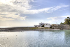 City Sochi. House on the spit royalty free stock images