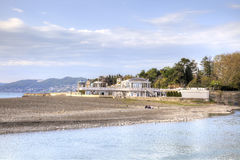 City Sochi. House on the spit royalty free stock image