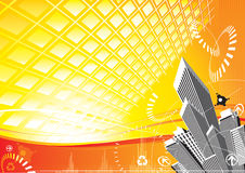 City Solar Power Stock Image