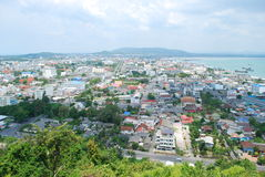 City of songkhla. Songkhla province with buildings and skyscrapers Stock Images