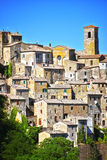 City of Sorano in the province of Grosseto in Tuscany, Italy. City of Sorano in the province of Grosseto in Tuscany, Italy Royalty Free Stock Images