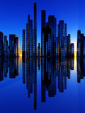 City Of The Soundwave 2. An image of a city by some water the city is designed to look like a bar graph soundwave Royalty Free Stock Photo