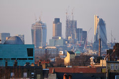 The city from South East London Royalty Free Stock Image