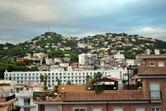 City in Spain. Lloret de Mar. General type of the city on seaside of the spain Stock Images