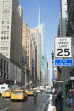 City speed limit  sighn in Manhattan Royalty Free Stock Photography