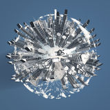 City Sphere with Clouds Stock Images