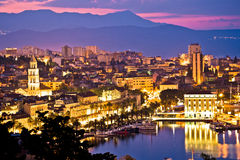City of Split aerial view at dawn Stock Photo