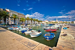 City of Split harbor and old architecture Stock Photos