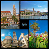 City of Split nature and architecture collage Stock Photography