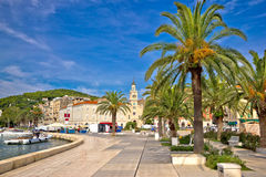 City of Split palm waterfront Royalty Free Stock Photos