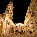City of Split Peristil square night view Royalty Free Stock Image