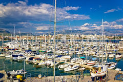 City of Split sailing and yachting harbor Royalty Free Stock Image