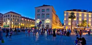 City of Split square evening panorama Stock Image