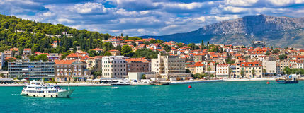 City of Split waterfront panorama Royalty Free Stock Photo