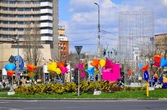 City spring arrangement Stock Images