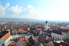 City Square. In Sibiu, Romania Royalty Free Stock Image