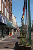 On the city square. View of downtown Hickory North Carolina in the early spring of the year Stock Photo