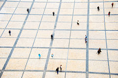 City square, aerial view Royalty Free Stock Photos