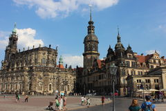 City square in Dresden, Germany Royalty Free Stock Photos