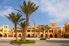 City square. El Gouna, Egypt Stock Image
