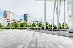 City Square. The flat ground and Modern Plaza Building Stock Image