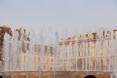 City square with fountain Royalty Free Stock Images