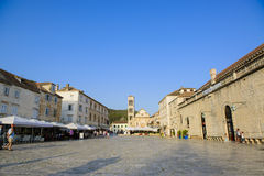 City square of hvar croatia Stock Photography