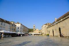 City square of hvar croatia Stock Photography