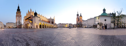 City square in Krakow Stock Photos