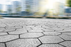 City Square pavement. Square marble pavement under the sunshine Stock Image