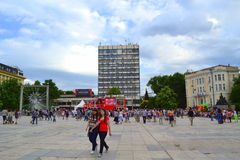 City square,Plovdiv,Bulgaria Royalty Free Stock Photos