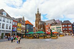 Free City Square With Munsterkerk In Roermond, Netherlands Royalty Free Stock Images - 128992739