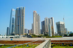 City squares and buildings Royalty Free Stock Photography