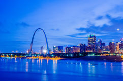 City of St. Louis skyline. Image of St. Louis downtown with Gate Stock Images