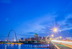 City of St. Louis skyline. Image of St. Louis downtown with Gate Royalty Free Stock Image