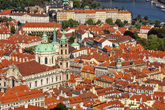 The city and the St. Nicolas Church. Stock Photography
