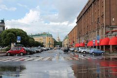After the rain. St. Petersburg. stock image