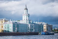Grand Buildings Along River Royalty Free Stock Image