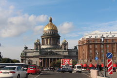 The city of St. Petersburg. September 2015. Away is St. Isaac`s Cathedral Royalty Free Stock Photos